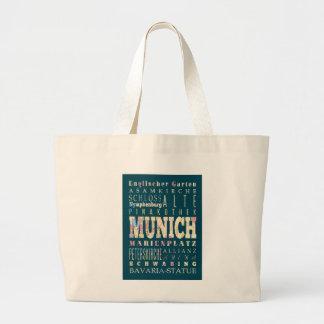 Attraktioner & berömd ställen av Munich, Germany. Tote Bags