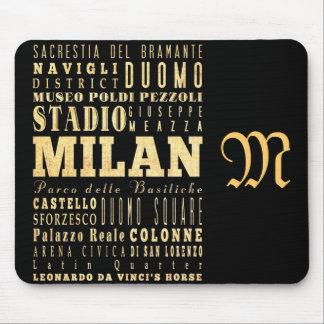 Attraktioner och berömd ställen av Milan, italien Mus Mattor