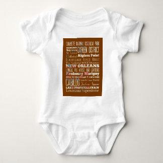 Attraktioner och berömd ställen av New Orleans Tee Shirt