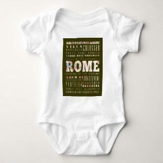 Attraktioner och berömd ställen av Rome, italien Tee Shirt