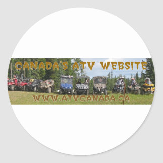 ATV Kanada utrustar Runt Klistermärke