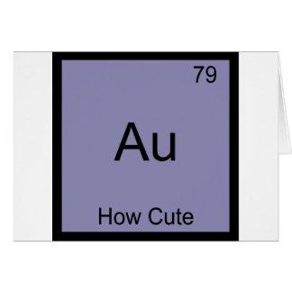 Au - hur gulliga det roliga kemiinslagsymbolet hälsningskort