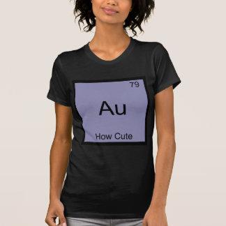 Au - hur gulliga det roliga kemiinslagsymbolet tee shirts