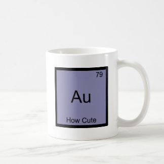 Au - hur gulliga det roliga kemiinslagsymbolet vit mugg