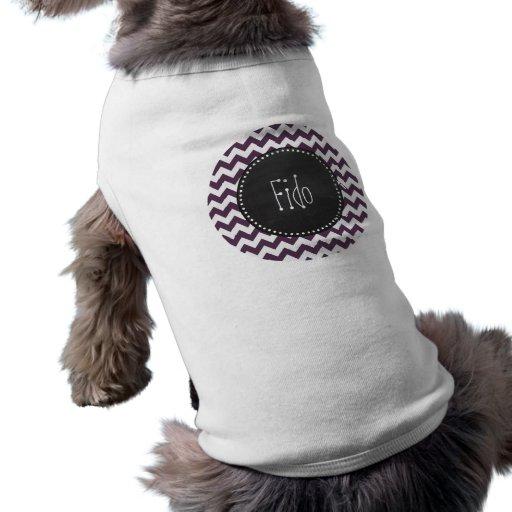 Auberginelilasparre; Retro svart tavla Hund T-shirts