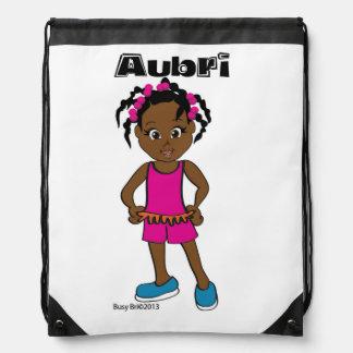 Aubri: Drawstringryggsäck, upptagna Bri och familj Gympapåse