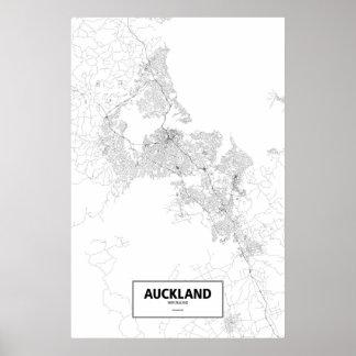 Auckland som är nyazeeländsk (svarten på vit) poster