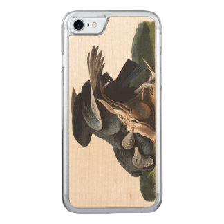 Audubon pläterar svart gam 106 carved iPhone 7 skal