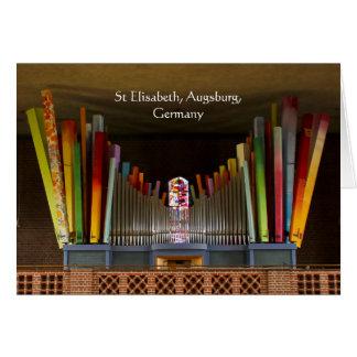 Augsburg organ hälsningskort