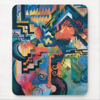 Auguste Macke - vördnad till Bach abstrakt modern Musmatta