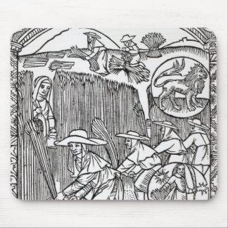Augusti från en herde kalender musmatta