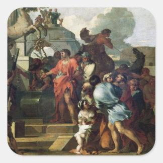 Augustus för graven av Alexander III Fyrkantigt Klistermärke