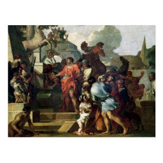 Augustus för graven av Alexander III Vykort