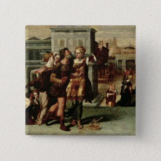Augustus och den Tiburtine sibylen, c.1540-50 Standard Kanpp Fyrkantig 5.1 Cm