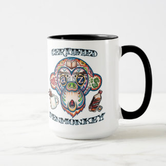 AUKTORISERAD PENMONKEY -- Kaffemugg