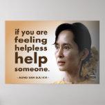 Aung San Suu Kyi Affisch