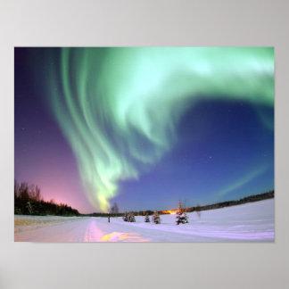Aurora - härligt nordligt ljus poster