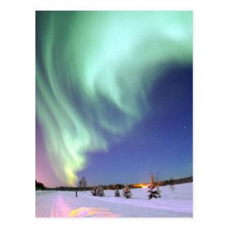 Aurora - härligt nordligt ljus vykort