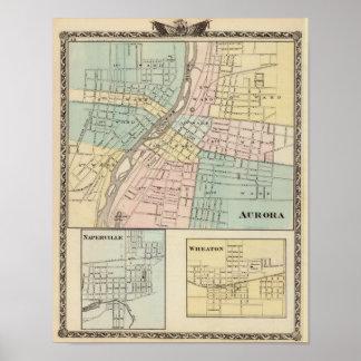 Aurora, Naperville och Wheaton Poster