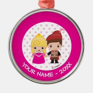 Aurora- och för Prince Philip Emoji Tillfoga Din Julgransprydnad Metall