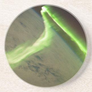 Aurora som är australis från internationell underlägg sandsten
