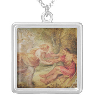 Aurora som rövar bort Cephalus, 1636 Silverpläterat Halsband