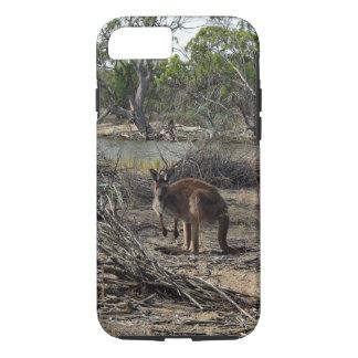 Aussie känguru i outbacken,