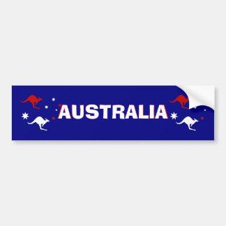 Aussie känguru och sydlig arg bildekal