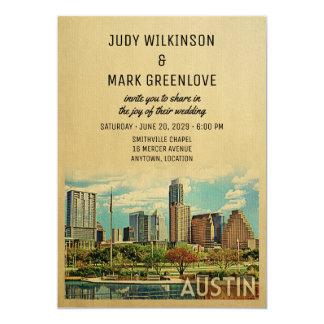 Austin bröllopinbjudan Texas 12,7 X 17,8 Cm Inbjudningskort