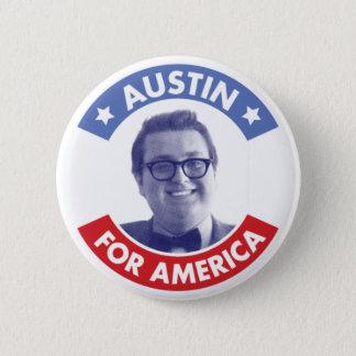 Austin för Amerika (klassiker) knäppas Standard Knapp Rund 5.7 Cm