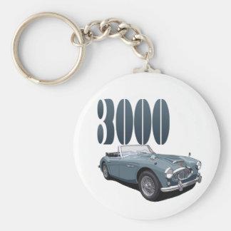 Austin Healey 3000 Rund Nyckelring