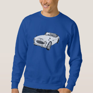 Austin Healey 300 sportbilillustration Sweatshirt