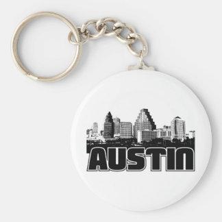 Austin horisont rund nyckelring