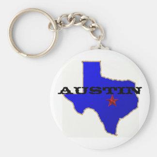 Austin Keychain Rund Nyckelring