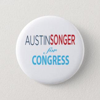 Austin Songer för kongress - knäppas [2,25 flytta Standard Knapp Rund 5.7 Cm