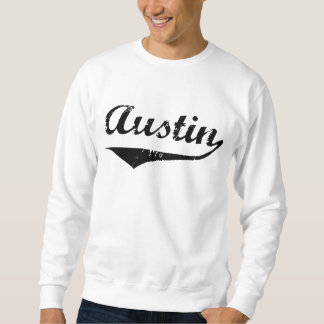 Austin svart text lång ärmad tröja
