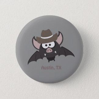 Austin Texas - Cowboyfladdermöss Standard Knapp Rund 5.7 Cm