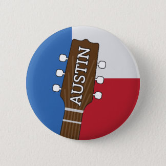 Austin Texas - musikhuvudstad av världen - knäppas Standard Knapp Rund 5.7 Cm