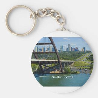 Austin Texas Rund Nyckelring