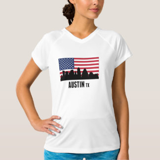 Austin TX amerikanska flaggan T Shirt