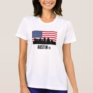 Austin TX amerikanska flaggan Tee Shirt