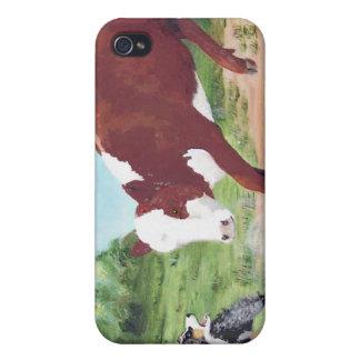 Australian shepherd~-arbete Cowdog iPhone 4 Skydd