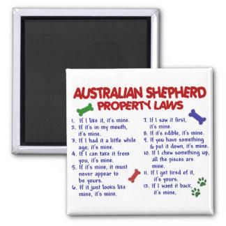 AUSTRALIAN SHEPHERDegendomlagar 2 Kylskåpsnagnet
