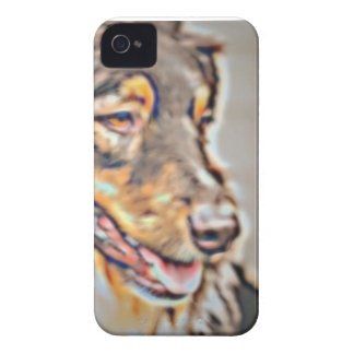 Australian shepherdtecknad iPhone 4 Case-Mate case