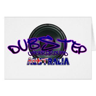 Australien australier DUBSTEP Hälsningskort