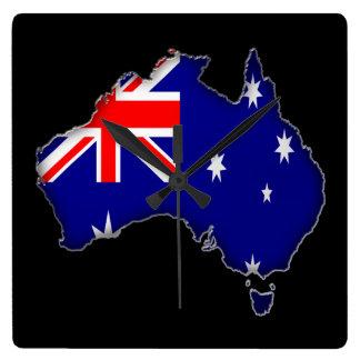 Australien dag fyrkantig klocka