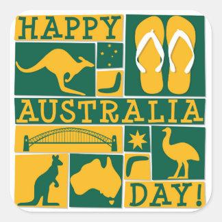 Australien dag fyrkantigt klistermärke