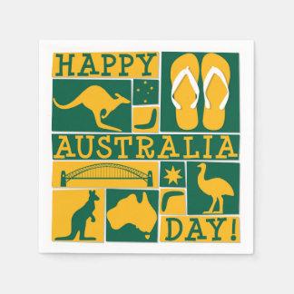 Australien dag servett