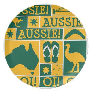 Australien dag tallrik