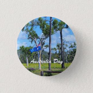 Australien dagemblem med australiensisk flagga mini knapp rund 3.2 cm